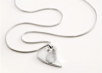 Funky Heart Fingerprint Pendant