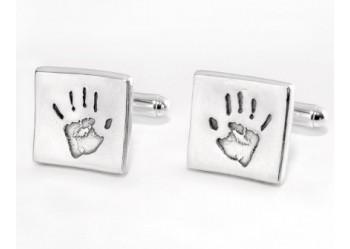 Square Cufflinks - Handprint