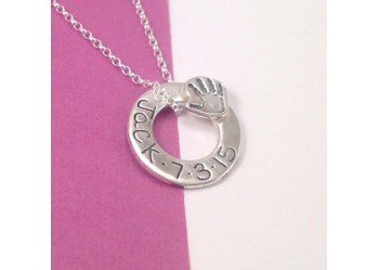 Hand/Footprint Ring Necklace