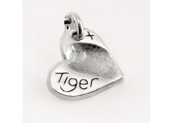 Fingerprint Charm - Small Heart