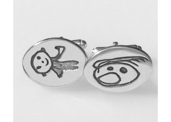 Oval Artwork Cufflinks