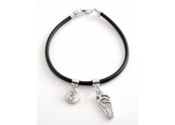 Hand/Footprint Rubber Charm Bracelet