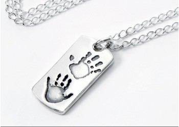 Double Hand/Foot Print Dog Tag