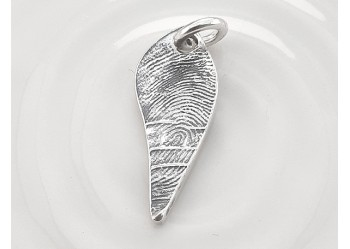 Fingerprint Leaf Charm