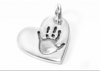 Hand/Foot Print Heart Charm