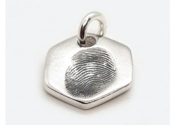 Hexagonal Fingerprint Charm