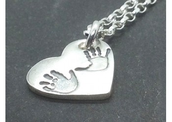 Happy Hands and Funny Feet Heart Pendant