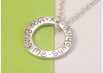 Large Circle Pendant with Chain