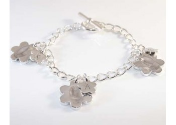 Daisy Flower Charm Bracelet