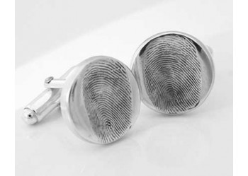 Fingerprint Cufflinks - Little Round Button
