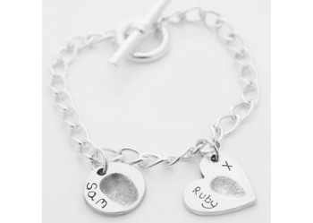 T-Bar Charm Bracelet and Charm