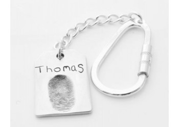 Key Ring with Dog Tag Charm