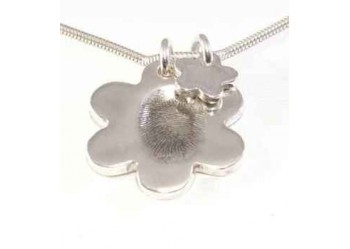 Fingerprint Flower Pendant & Small Charm