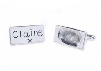 Fingerprint Cufflinks - Oblong
