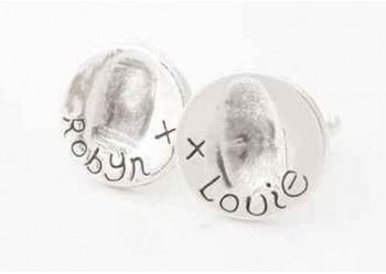 Fingerprint Cufflinks - Round