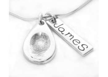 Fingerprint Teardrop Pendant