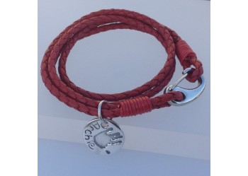 Leather Double Wrap Bracelet with Charm