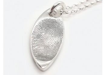 Petal Fingerprint Pendant