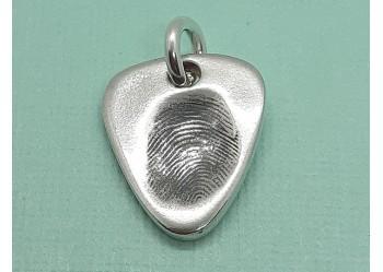 Plectrum Fingerprint Charm