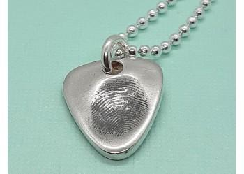 Plectrum Fingerprint Pendant