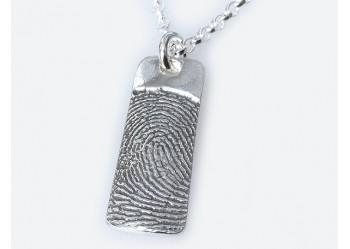 Ink Fingerprint Slim Pendant