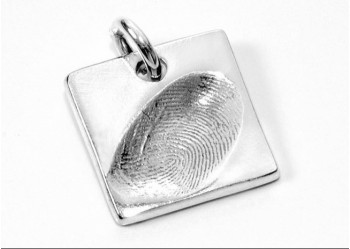 Fingerprint Charm - Small Square