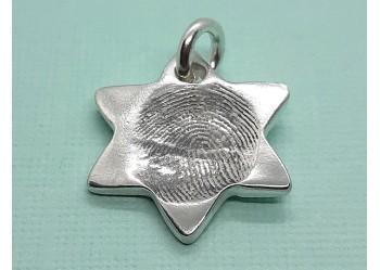 """""""My Little Star"""" fingerprint Charm"""